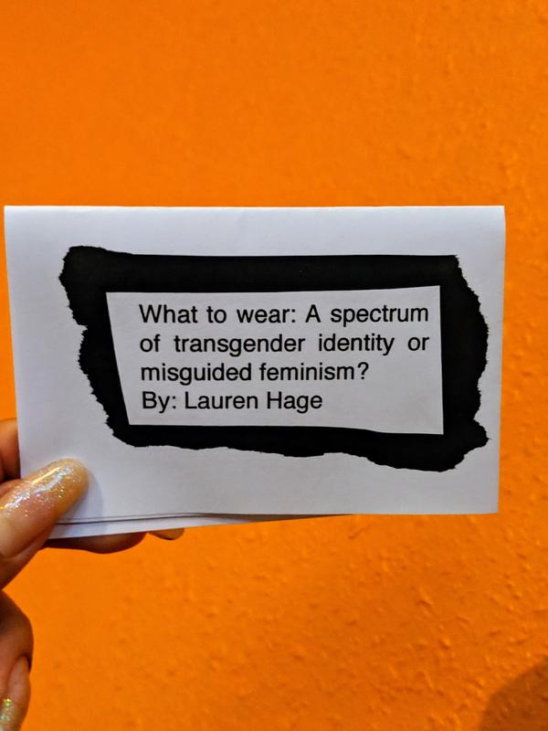 What to Wear: A spectrum of transgender identity or misguided feminism?