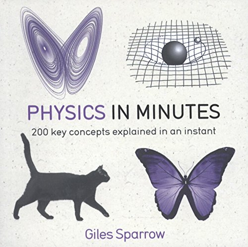 white book cover depicting a black cat, 2 physics graphs, and a butterfly