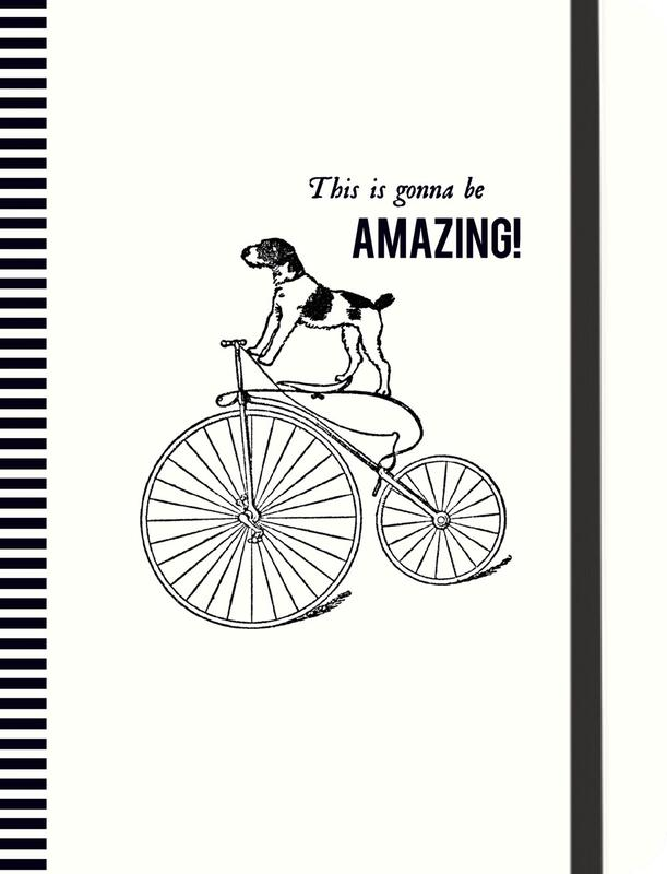 Cycling Dog Gilded Journal (Alice Scott Vintage Prints)