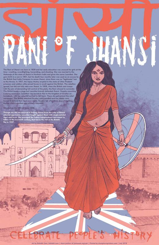 Rani of Jhansi Poster blowup