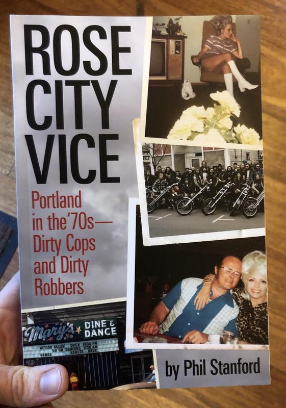 Cover of Rose City Vice, which includes several photos from the 70s