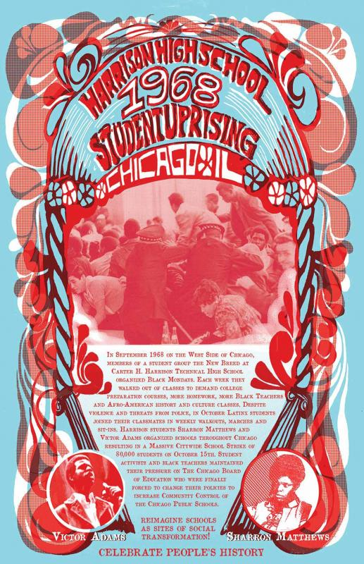 Harrison High School 1968 Student Uprising Poster