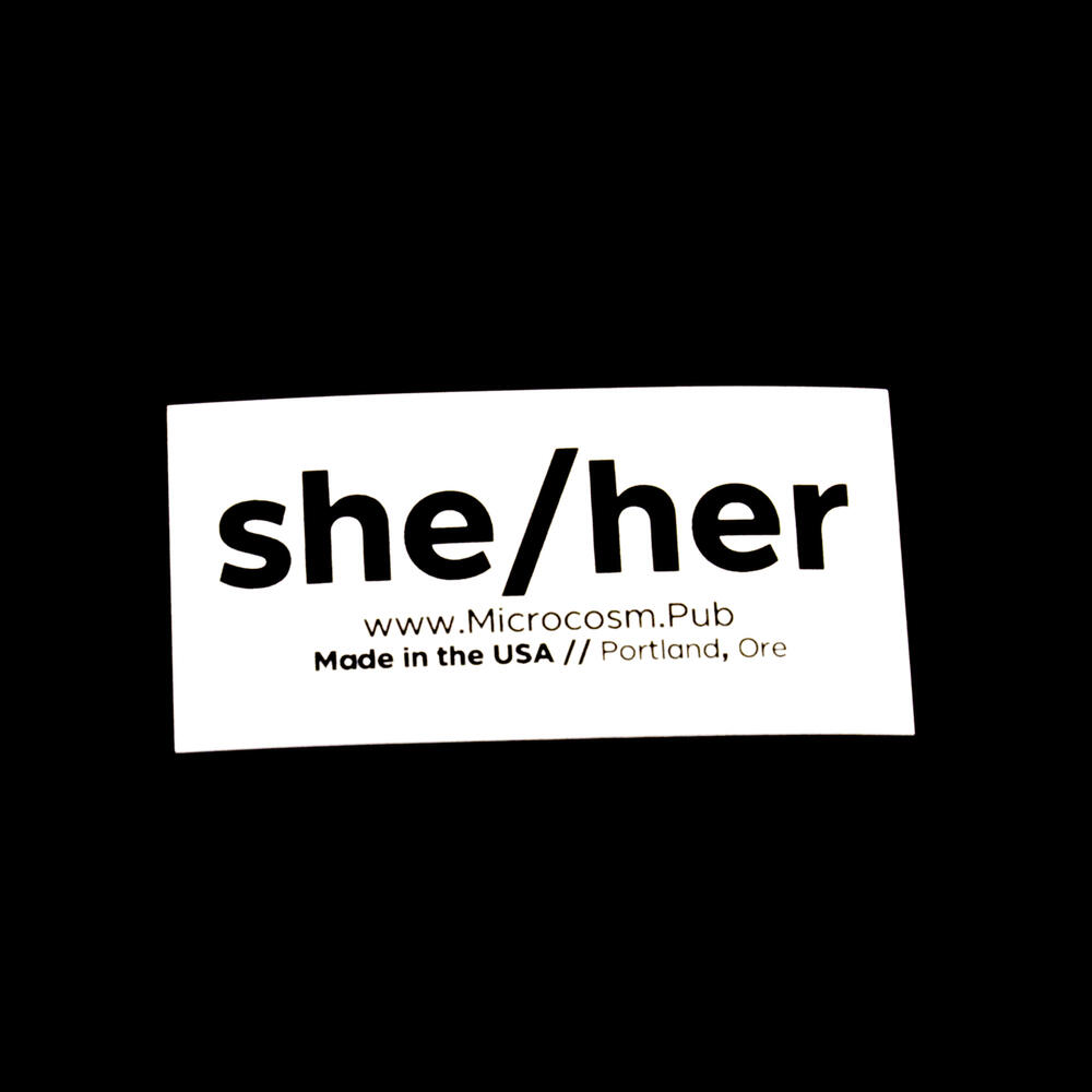 Sticker #434: She/Her