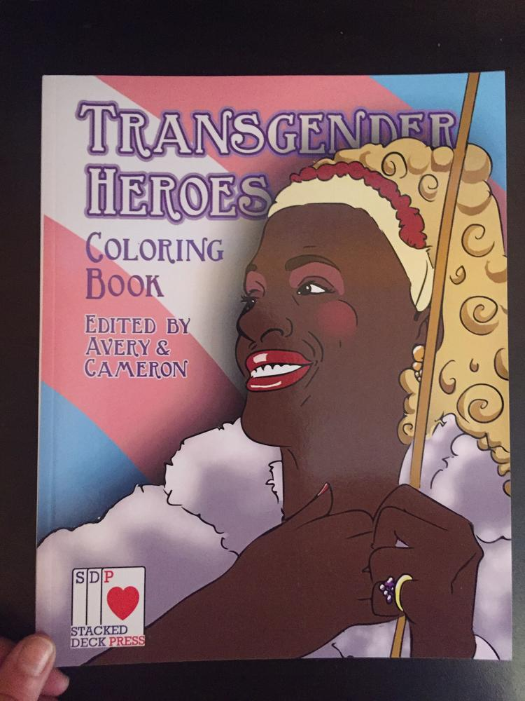 Transgender Heroes Coloring Book blowup