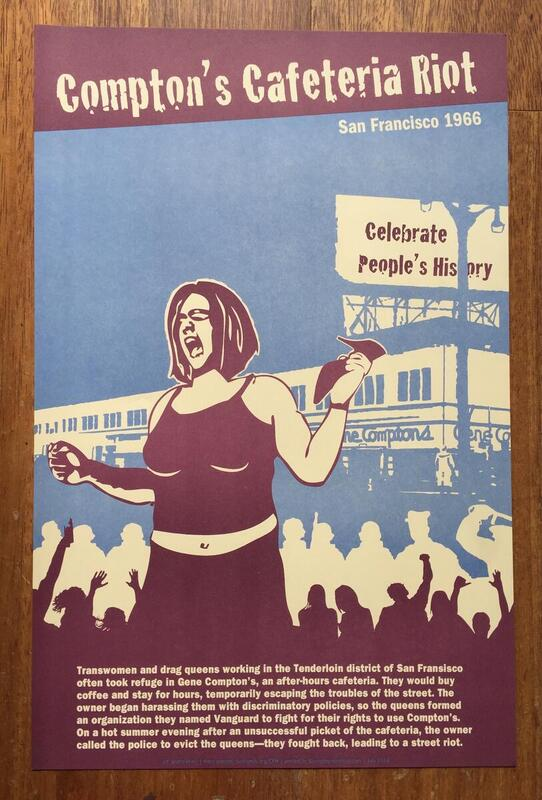 Compton's Cafeteria Riot Poster
