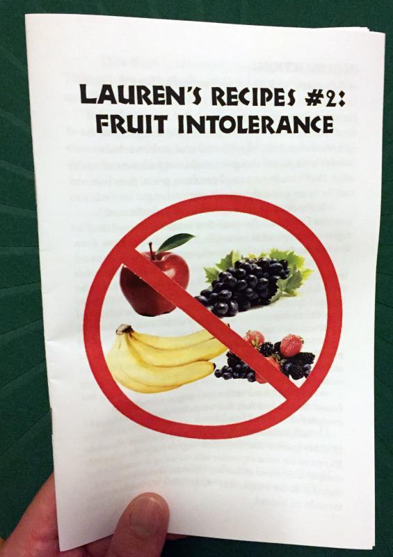 Lauren's Recipes #2: Fruit Intolerance