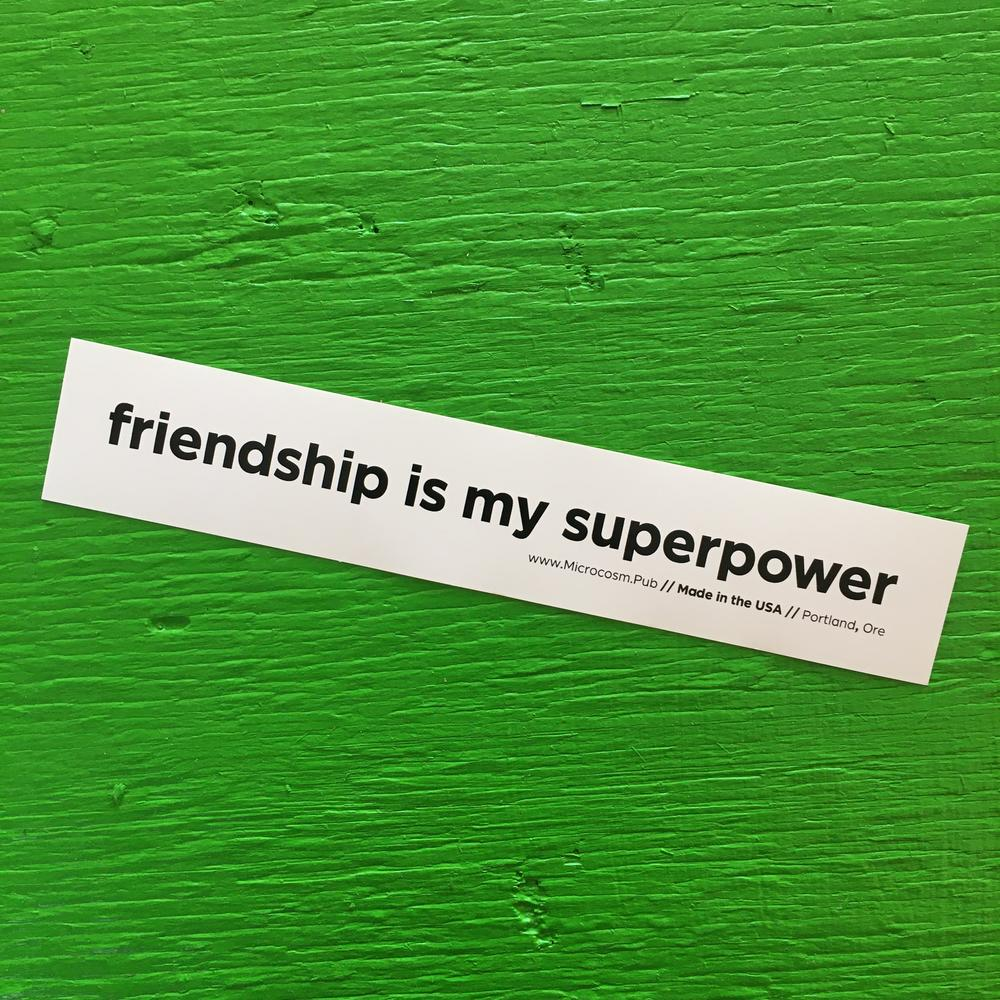 Sticker #427: friendship is my superpower