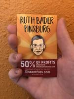 Ruth Bader Pinsburg Enamel Pin