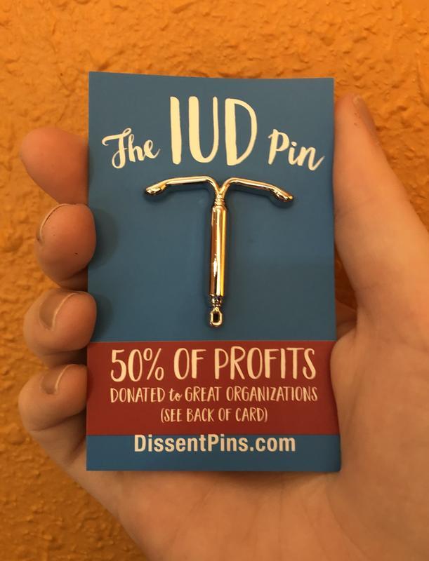 IUD Enamel Pin