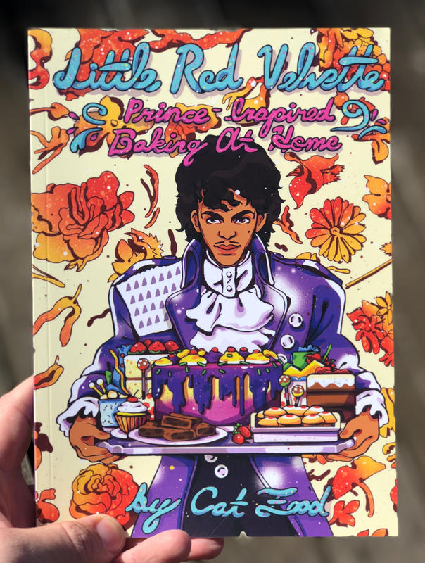 Prince holding a bunch of delicious pastries