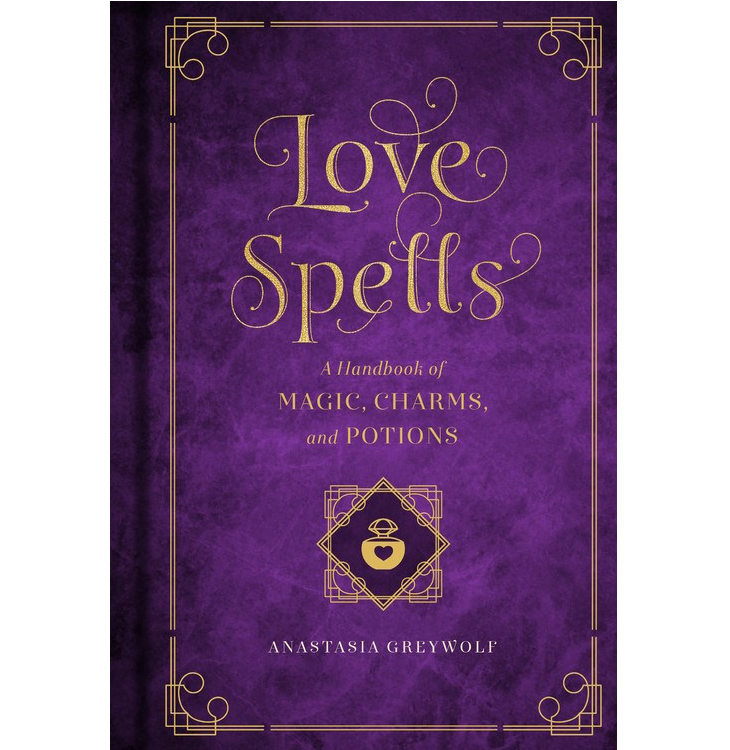 Purple cover with gold font