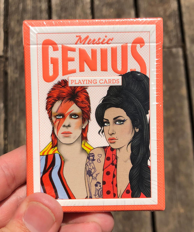 Illustrations of David Bowie and Amy Winehouse