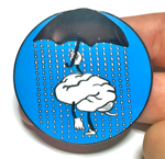 Depression Umbrella enamel pin