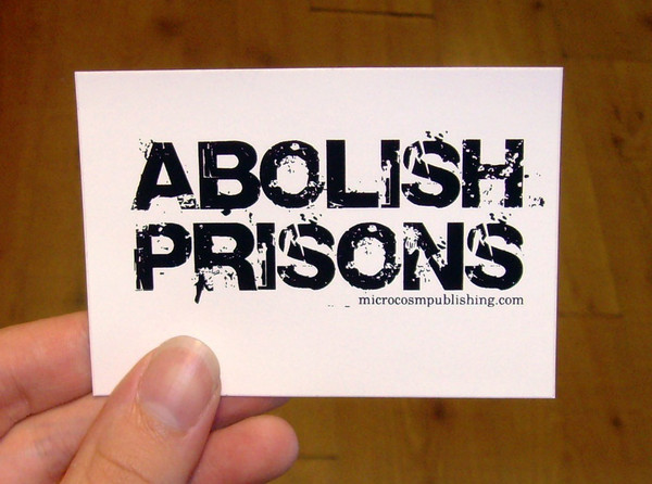 abolish prisons vinyl sticker