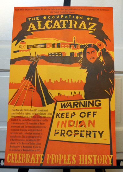 Occupation of Alcatraz poster by justseeds josh macphee keep off indian property