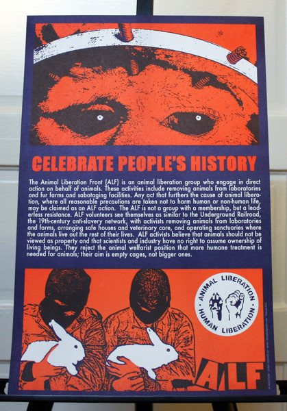 ALF Animal Liberation Front celebrate people's history justseeds poster