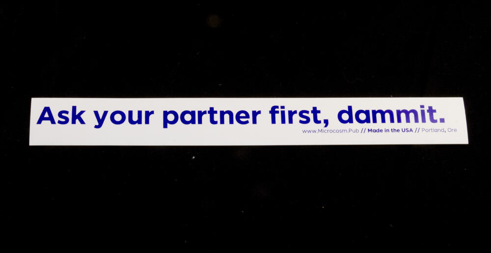 Ask your partner first, dammit