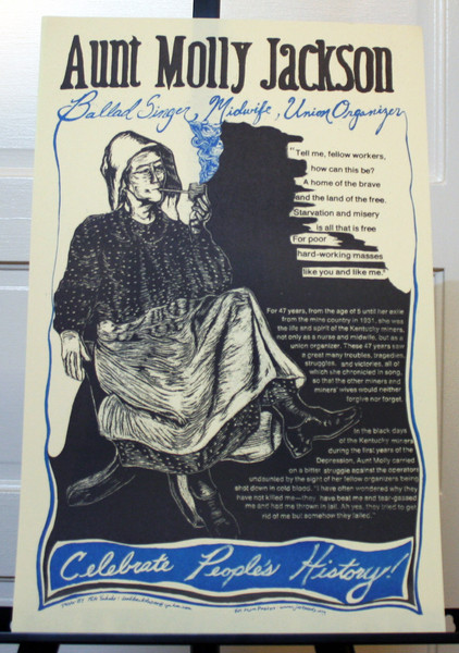 Aunt Molly Jackson Ballad Singer, Midwife, Union Organizer poster