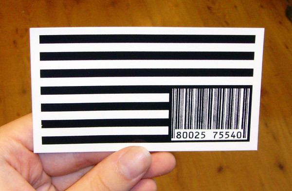 Sticker 215 Flag Barcode