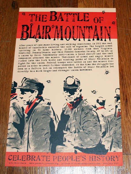 Battle of Blair Mountain appalachian coal miner union poster