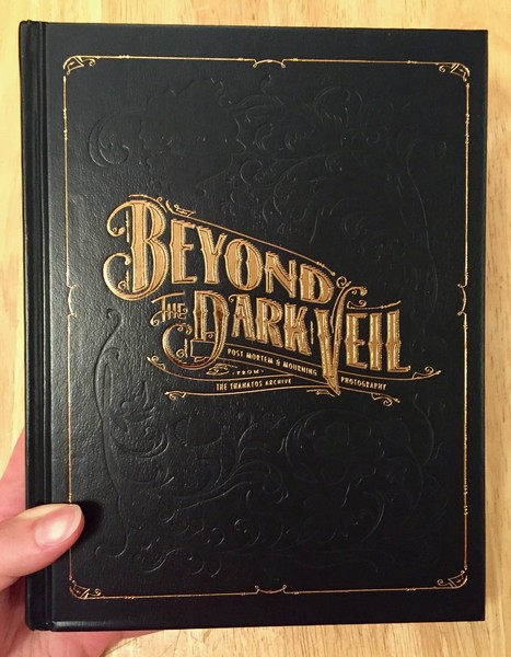 Cover of Beyond the Dark Veil, which is a faux black leather cover with the title in gold