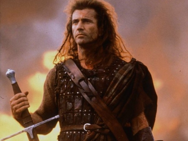 a press photo of mel gibson in braveheart