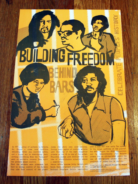 Building Freedom Behind Bars Walpole prison poster blowup