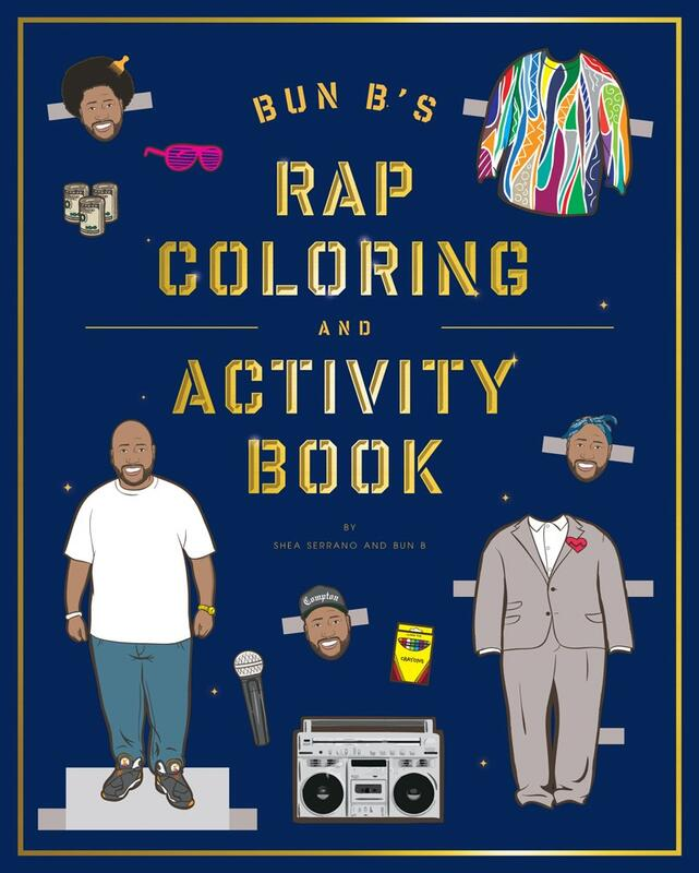 Bun B's Rap Coloring and Activity Book blowup