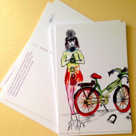 bike chakra postcard blowup