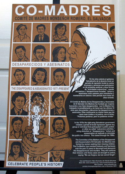 Co-Madres  mothers of the disappeared and assassinated in el salvador poster