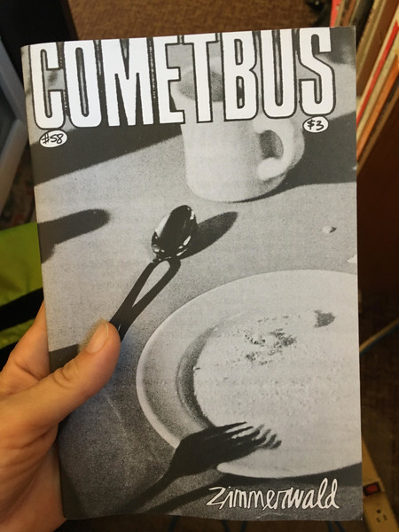 cometbus zine cover with empty dishes
