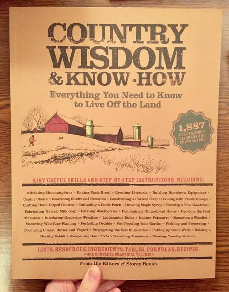 Cover of Country Wisdom & Know-How [A weary farmer strides across his fields toward his big red barn.]