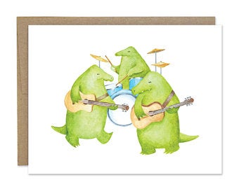 Croc Band Greeting Card blowup