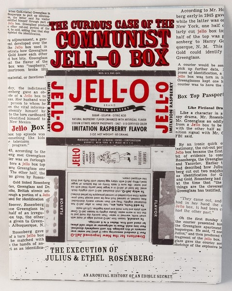 Zine cover with newspaper clippings and an old Jell-O box