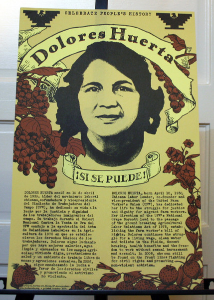 Dolores Huerta si se puede poster