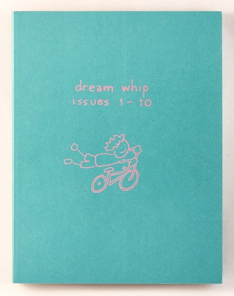 A blue book with a drawing of a kid riding a bike, but they're holding onto the handles and flying off the seat