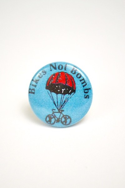 Button: Bikes not Bombs blowup