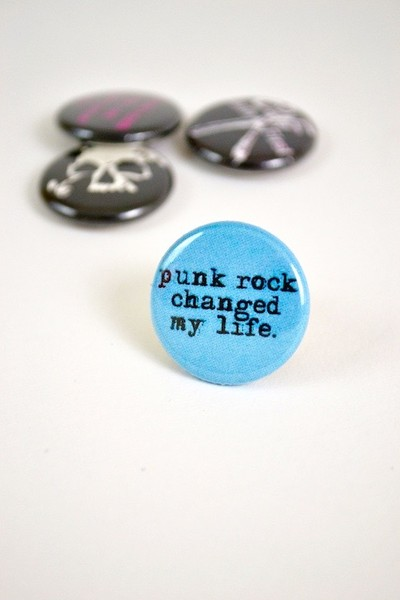 Punk rock changed my life button