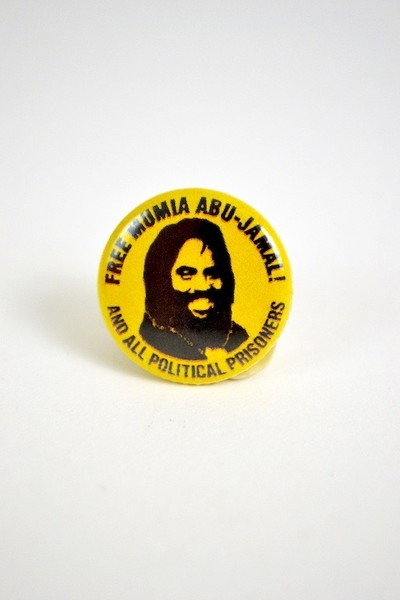 Free Mumia Abu-Jamal and political prisoners button