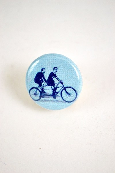 Tandem Riders Button