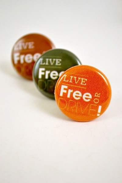 Button Live Free or Drive!