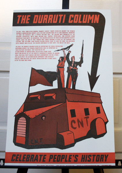 Durruti Column spanish civil war poster