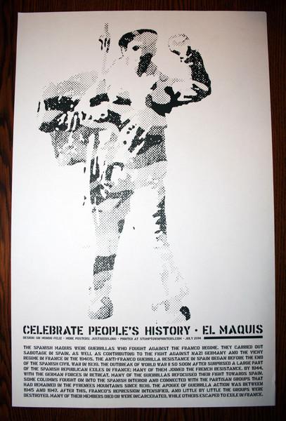 El Maquis poster spanish civil war guerrillas justseeds