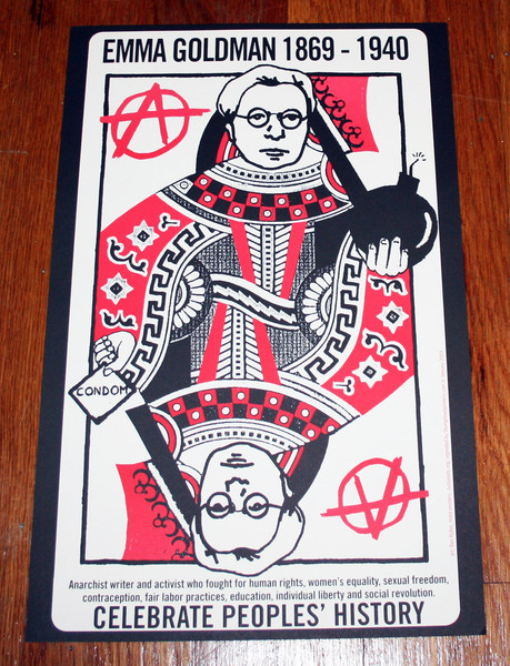 Emma Goldman Queen of Anarchism poster