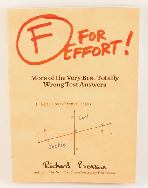 F For Effort by Richard Benson