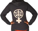 Chainring Feminist Fist Heart Sweatshirt