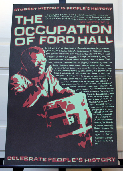 Occupation of Ford Hall poster