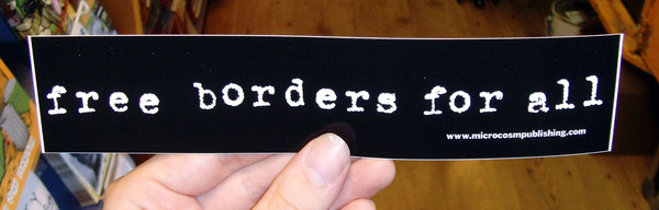 free border for all vinyl sticker blowup