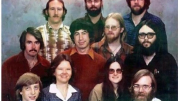 a picture from the 70s of a bunch of serious young republicans