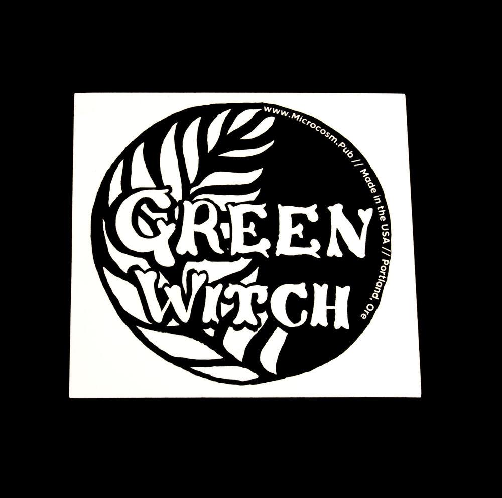 Sticker #444: Green Witch